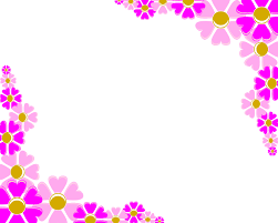free pink flower corner decoration backgrounds for powerpoint