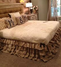 burlap ruffled bed skirt full and twin love this look house