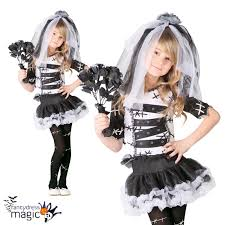 Corpse Bride Halloween Costume Childs Girls Monster Zombie Corpse Bride Horror Halloween Fancy