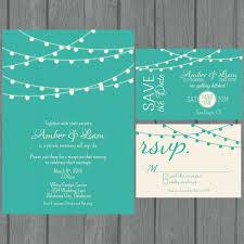 teal wedding invitations digital string lights wedding invitation teal non