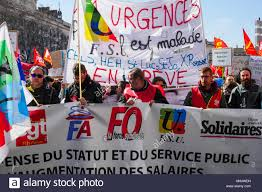 si es sociaux lyon lyon 22nd march 2018 called by trade unions and left wing