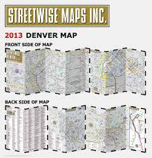 Denver Metro Map by Streetwise Denver Map Laminated City Center Street Map Of Denver