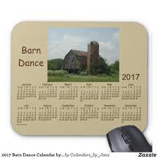 Barn Dance Names 2017 Barn Dance Calendar By Janz Mouse Pad Barn Dance Dance And