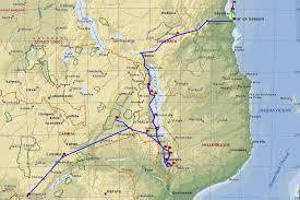 Victoria Falls Map Zambia Malawi Tanzania