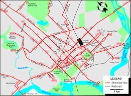 washington dc trolley map washington 1946