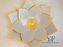 paper flower template 25 in silver and gold shimmery card stock