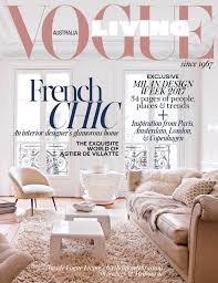home interior design magazine vogue living