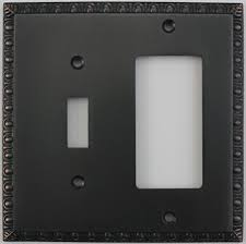 oil rubbed bronze light switch egg dart oil rubbed bronze two gang combo switch plate https