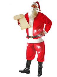 santa suit one size fits most clothing