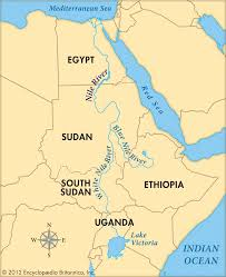 Egypt Africa Map by Nile River From Source To Mouth Reizen Langs Rivieren Travelling