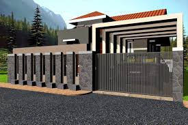 Different Types Of Home Designs by Modern Home Fence Design Modern House Gates And Fences Designs