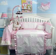 girls nursery bedding sets amazon com new pink minky dot chenille baby crib nursery bedding