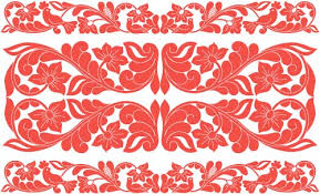 hungarian ethnic ornaments vector material 05 vector