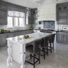 Dark Grey Kitchen Cabinets by Gray Wash Kitchen Cabinets With Dark Gray Veined Marble
