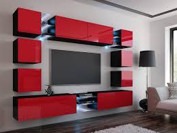 Wohnzimmerschrank Schwarz Wohnwand Modern Schwarz Gispatcher Com