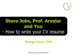 Steve Jobs Resume Pdf by Short Presentation Steve Jobs Prof Arveler And You How To Writ U2026