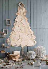 wall christmas tree made of book page christmas ideas nordic