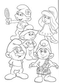 fresh the smurfs coloring pages 52 for your seasonal colouring