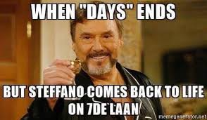 Days Of Our Lives Meme - throwback thursday 5 days of our lives characters we ll miss