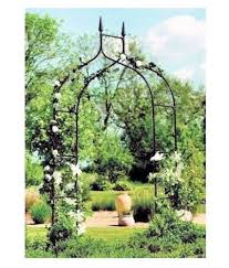 arch trellis black yard garden patio backyard path archway arbor