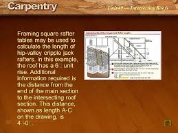 Hip And Valley Roof Calculator Unit 49 Intersecting Roofs Ppt Video Online Download