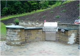 outdoor kitchen island plans backyards cozy diy brick modular outdoor kitchen island 104