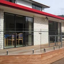 floor mounted glass railing balcony steel grill designs with
