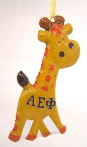 aephi cloisonne sorority ornament giraffe symbol s