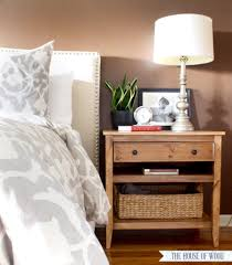 Wood End Table Plans Free by Diy Bedside Table With Drawer And Shelf Free Plans