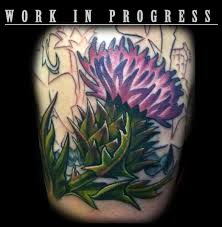 24 thistle tattoos meanings photos designs for men and women