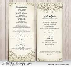 Tea Length Wedding Program 8 Best Wedding Program Ideas Images On Pinterest Wedding