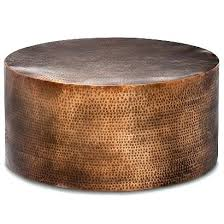brass drum coffee table manila hammered barrel coffee table round drum accent table drum