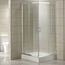 Corner Shower Glass Doors 34 X 34 Torres Corner Door Shower Enclosure Bathroom