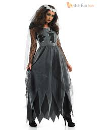 Gothic Womens Halloween Costumes Ladies Corpse Ghost Bride Halloween Fancy Dress Costume Gothic