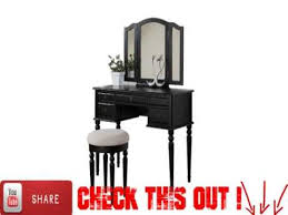 Bobkona St Croix Collection Vanity Set With Stool White Bobkona St Croix Collection Vanity Set With Stool Black Youtube