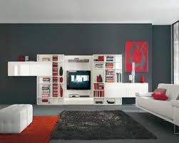 simple wall mounted tv idea for room divider idea placed above