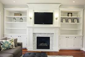 How To Build In Bookshelves - wall units amusing built in shelves around tv built in shelves