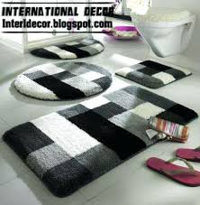 Designer Bathroom Rugs Modern Bath Rugs Jeux De Decoration