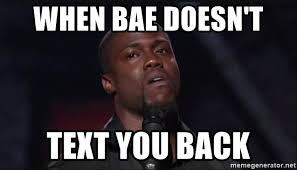 Text Back Meme - when bae doesn t text you back kevin hart face meme generator