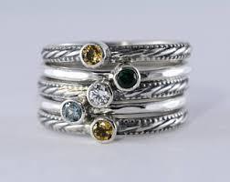 family rings for 6 gemstones birthstone s stacking ring set 6