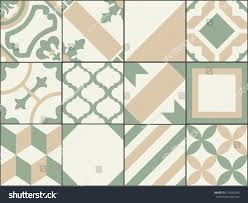 vintage patchwork tiles old style tiles stock vector 574583095