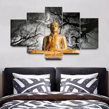 No Frame Buddha Modern Wall Decor Art Oil Painting On Canvas