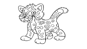 baby tiger coloring page coloring home