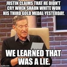 Shaun White Meme - maury lie detector meme imgflip