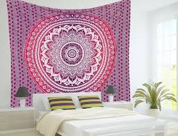 decorating white tapestry wall hangings with wall art and wall