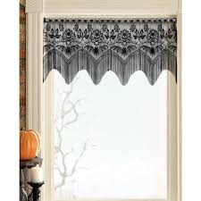 skulls and bats lace valance sin in linen