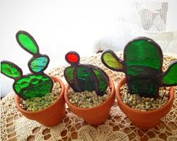 art glass cactus ring holder images Stained glass cactus stained glass pinterest cacti glass jpg
