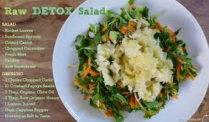 raw detox salad recipe cleansing foods natural healing diet