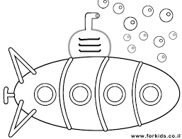 coloring simple submarine www forkids il coloring