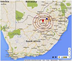 Map South Africa Roots U0027n U0027 Shoots Earthquake Hits Central South Africa